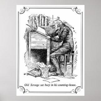 Un villancico del navidad: Scrooge viejo Póster