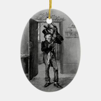 Un villancico del navidad: Tim minúsculo Adorno Navideño Ovalado De Cerámica