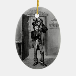 Un villancico del navidad: Tim minúsculo Adorno Ovalado De Cerámica