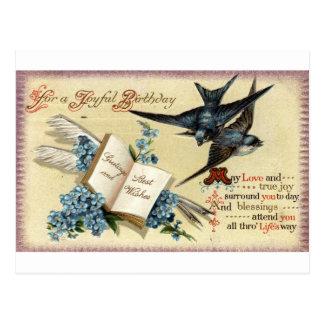 Un vintage alegre del cumpleaños Repro 1913 Postal