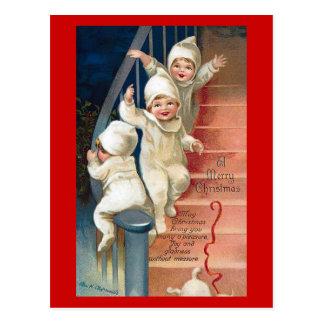 Un vintage de las Felices Navidad Postal