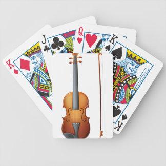 Un violín cartas de juego