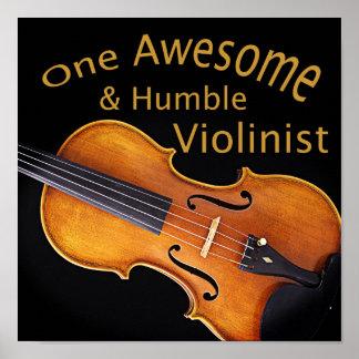 Un violinista impresionante y humilde póster