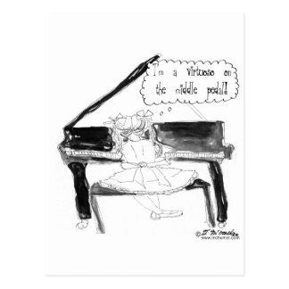 Un virtuoso en el pedal medio postal