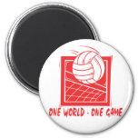 Un voleibol del juego del mundo uno imán de frigorífico