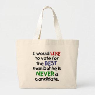 Un voto para el mejor hombre bolsa