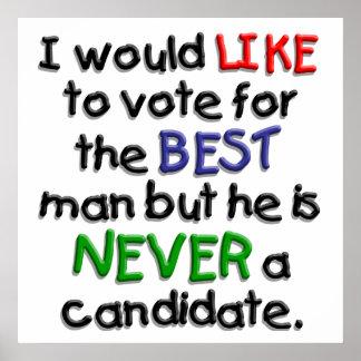 Un voto para el mejor hombre impresiones