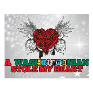 Un Washingtonian robó mi corazón Tarjeta Postal