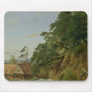 Un Watermill en Christiania, c.1834 Alfombrilla De Ratón