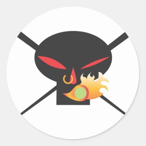 Un Wod de Wasabi - cráneo negro ningún aerosol Etiqueta