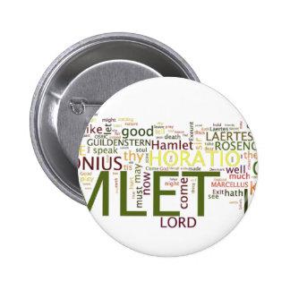 Un wordle hecho para el texto de Hamlet de Pin Redondo De 2 Pulgadas