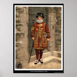 Un yoeman del guardia alabardero Londres Ingla Posters