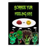 Un zombi consigue la tarjeta bien
