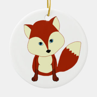 Un zorro rojo lindo adorno de navidad