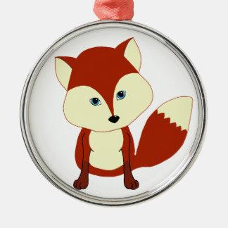 Un zorro rojo lindo ornamento de reyes magos