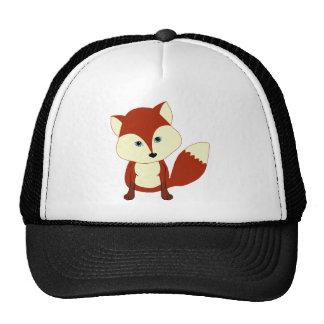 Un zorro rojo lindo gorros bordados