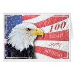 Una 100a tarjeta de cumpleaños patriótica