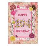 Una 104a tarjeta de cumpleaños del craftlook