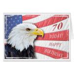 Una 70.a tarjeta de cumpleaños patriótica