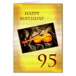 Una 95.a tarjeta de cumpleaños musical con un viol