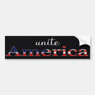 Una a la pegatina para el parachoques patriótica d pegatina para auto