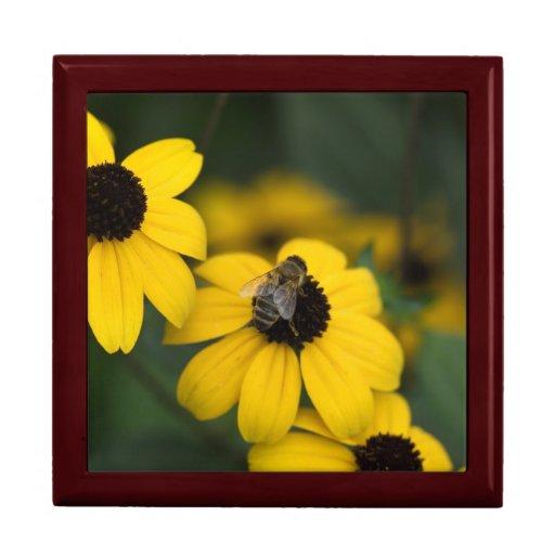 una abeja sobre la jerarquía de las flores cajas de joyas