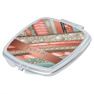 una abstracto-calabaza de seda de las rayas espejo para el bolso