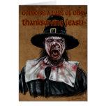 Una acción de gracias del zombi felicitación