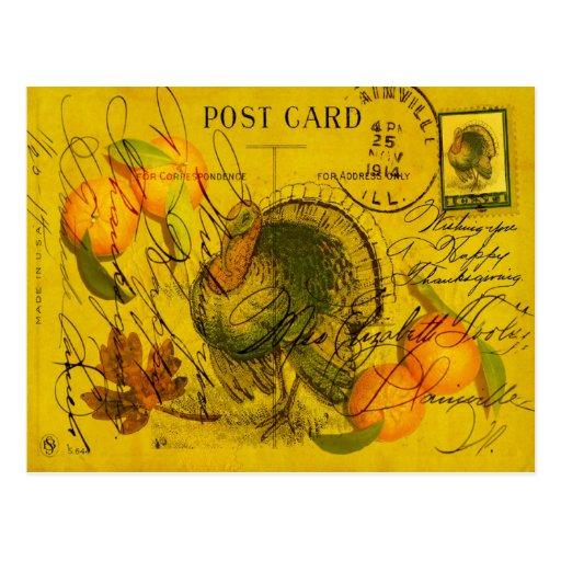 Una acción de gracias generosa postales
