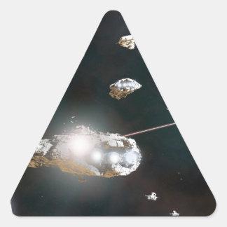 Una acción de la flota pegatina triangular