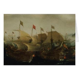 Una acción del mar, posiblemente la batalla de Cád Tarjeta De Felicitación