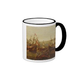 Una acción entre las naves del español y la galera tazas