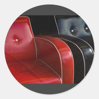 una acera más suave pegatina redonda