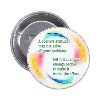 una actitud positiva pin redondo de 2 pulgadas