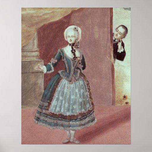 Una actriz en el papel de Rosine Póster