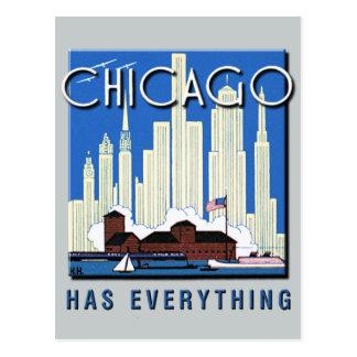 Una actualización de Chicago del vintage Tarjeta Postal