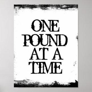 Una afirmación de la pérdida de peso de la libra a póster