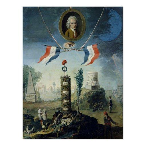 Una alegoría de la revolución tarjetas postales