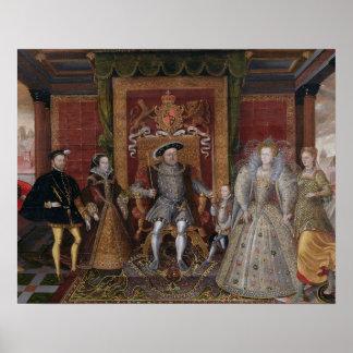 Una alegoría de la sucesión de Tudor: La familia d Póster