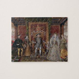 Una alegoría de la sucesión de Tudor: La familia d Puzzle Con Fotos