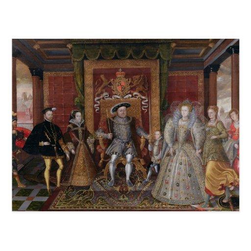Una alegoría de la sucesión de Tudor: La familia d Postal