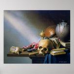 Una alegoría de las vanidades de la vida humana póster