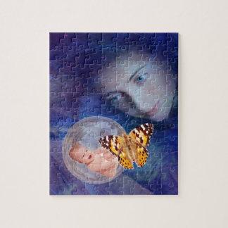 Una alegría del bebé y de la madre puzzle