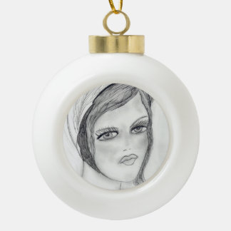 Una aleta adorno de cerámica en forma de bola