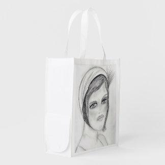 Una aleta bolsas reutilizables