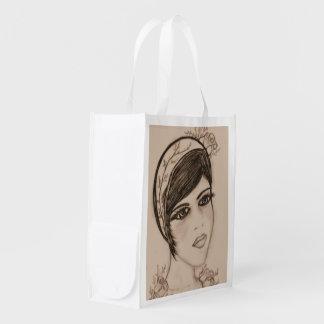 Una aleta dulce en sepia bolsas reutilizables