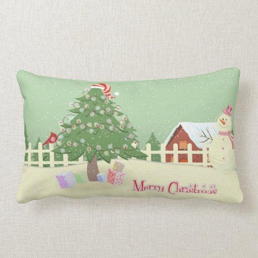 Una almohada más linda del navidad de la escena de