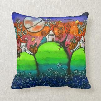 Una almohada original del arte de la caída festiva