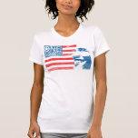 Una América retra Camisetas