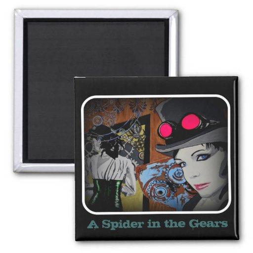 Una araña en el imán de los engranajes